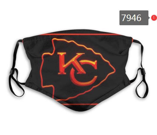 NFL 2020 Kansas City Chiefs5 Dust mask with filter