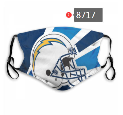 NFL 2020 Los Angeles Chargers Dust mask with filter