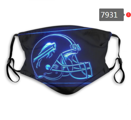 NFL 2020 Miami Dolphins 9 Dust mask with filter