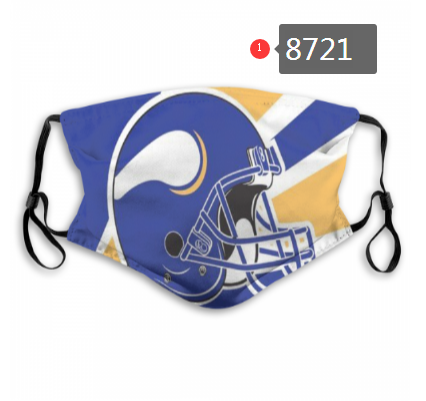 NFL 2020 Minnesota Vikings Dust mask with filter