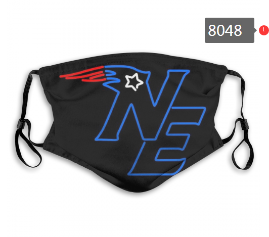 NFL 2020 New England Patriots 3 Dust mask with filter