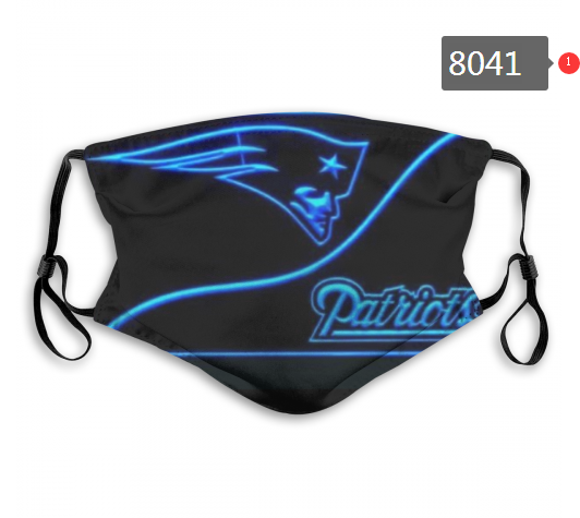 NFL 2020 New England Patriots 5 Dust mask with filter