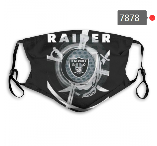 NFL 2020 Oakland Raiders 7 Dust mask with filter