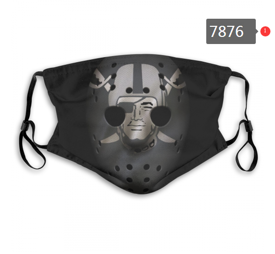 NFL 2020 Oakland Raiders 12 Dust mask with filter