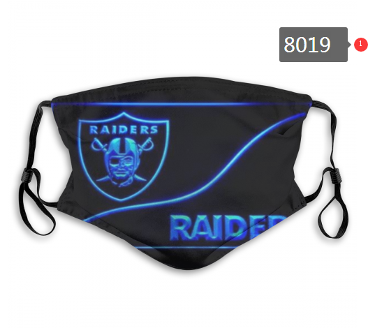 NFL 2020 Oakland Raiders 14 Dust mask with filter