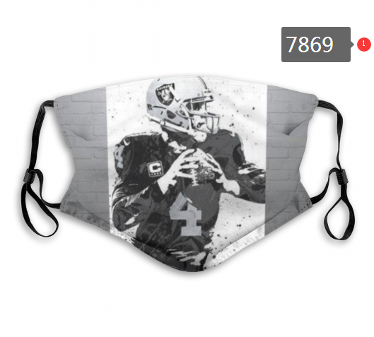 NFL 2020 Oakland Raiders 20 Dust mask with filter
