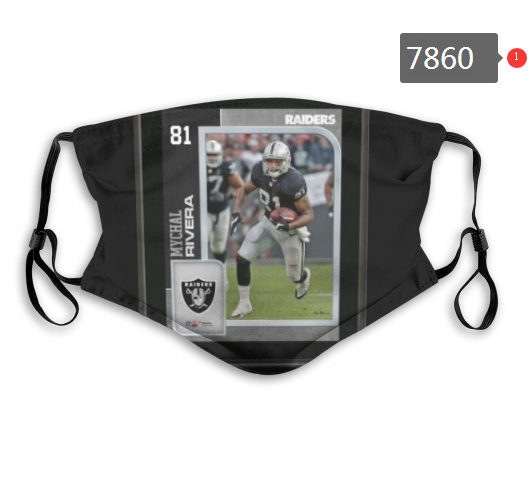 NFL 2020 Oakland Raiders 26 Dust mask with filter