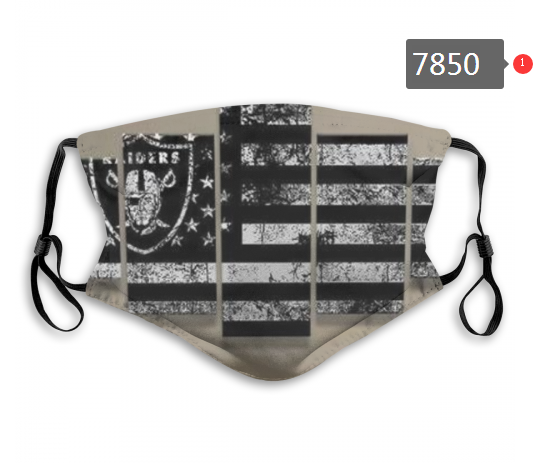 NFL 2020 Oakland Raiders 36 Dust mask with filter
