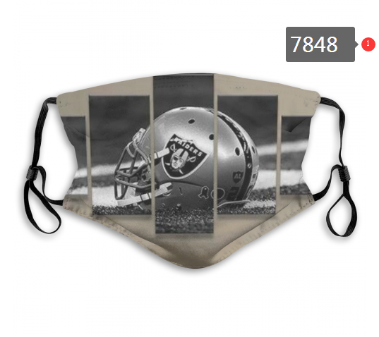 NFL 2020 Oakland Raiders 38 Dust mask with filter