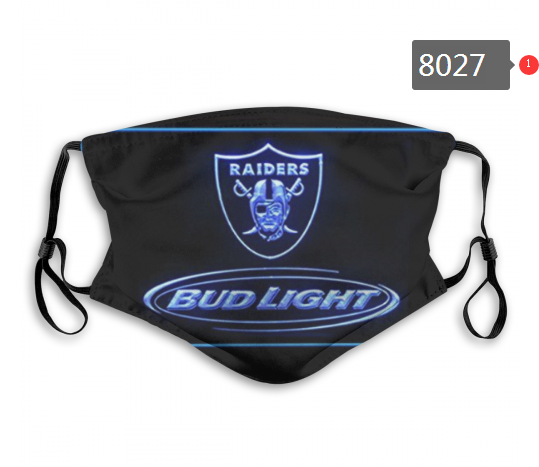 NFL 2020 Oakland Raiders 6 Dust mask with filter