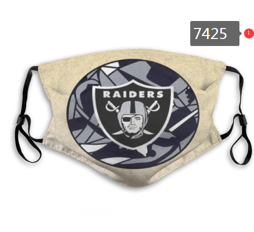NFL 2020 Oakland Raiders56 Dust mask with filter