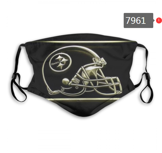 NFL 2020 Pittsburgh Steelers 9 Dust mask with filter