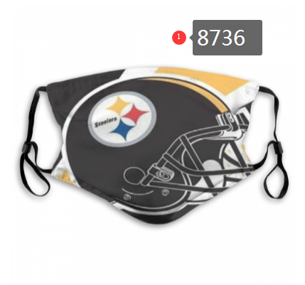NFL 2020 Pittsburgh Steelers Dust mask with filter