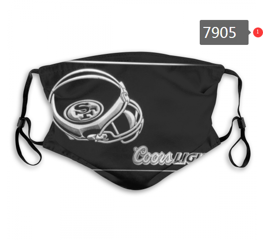NFL 2020 San Francisco 49ers 11 Dust mask with filter