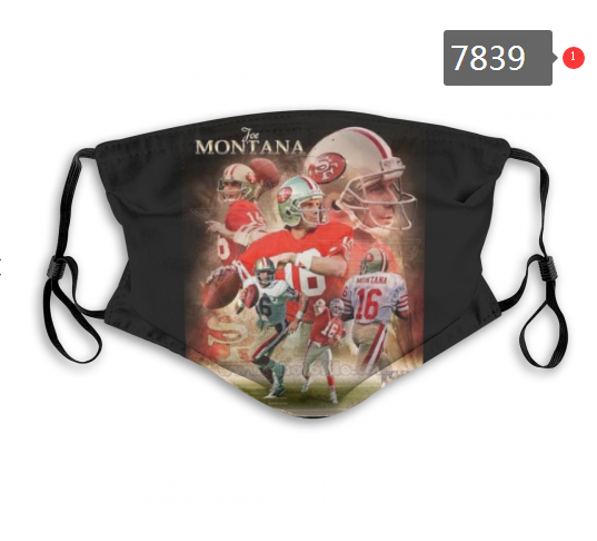 NFL 2020 San Francisco 49ers 18 Dust mask with filter