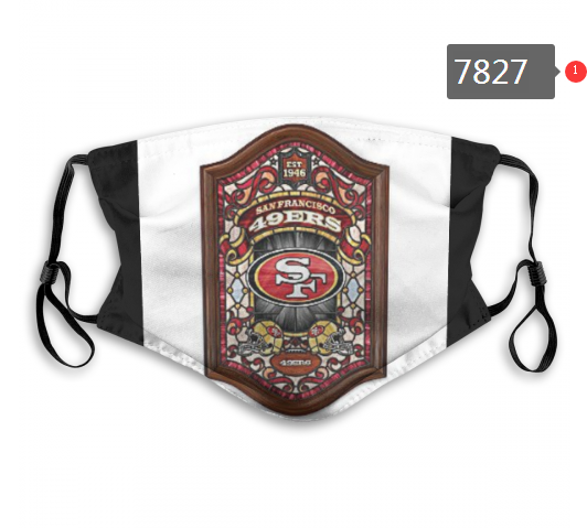 NFL 2020 San Francisco 49ers 28 Dust mask with filter