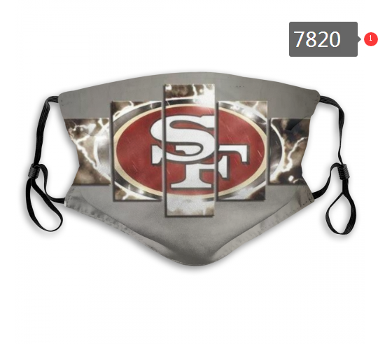 NFL 2020 San Francisco 49ers 31 Dust mask with filter