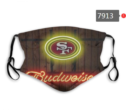 NFL 2020 San Francisco 49ers 4 Dust mask with filter
