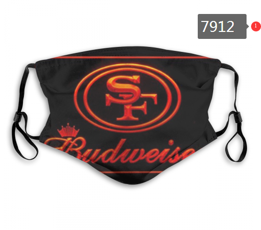 NFL 2020 San Francisco 49ers 44 Dust mask with filter