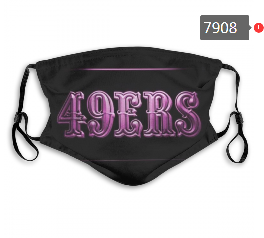 NFL 2020 San Francisco 49ers 8 Dust mask with filter