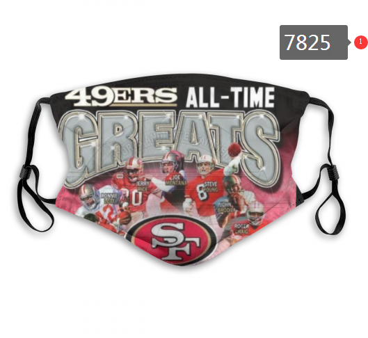 NFL 2020 San Francisco 49ers56 Dust mask with filter