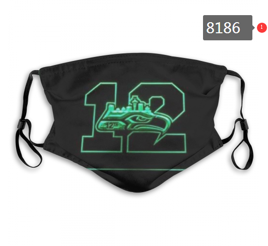 NFL 2020 Seattle Seahawks 12 Dust mask with filter