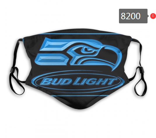 NFL 2020 Seattle Seahawks 3 Dust mask with filter