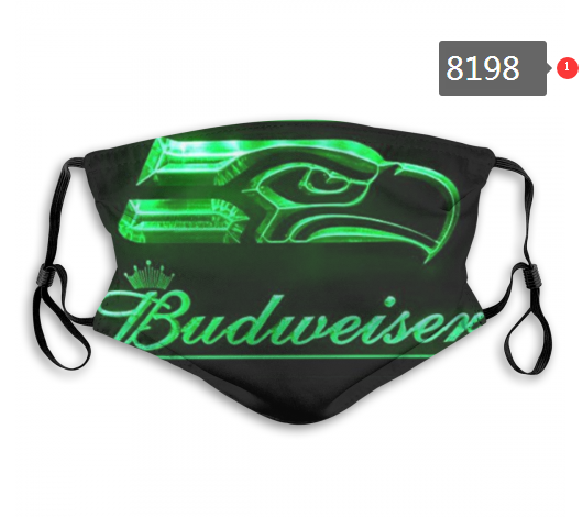 NFL 2020 Seattle Seahawks 4 Dust mask with filter