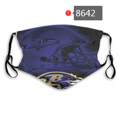 New 2020 Baltimore Ravens 2 Dust mask with filter
