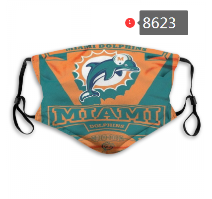 New 2020 Miami Dolphins Dust mask with filter