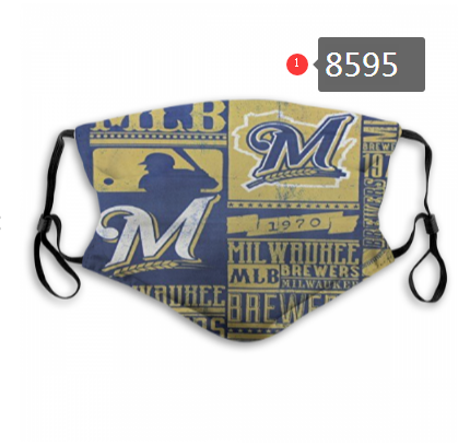 New 2020 Milwaukee Brewers Dust mask with filter