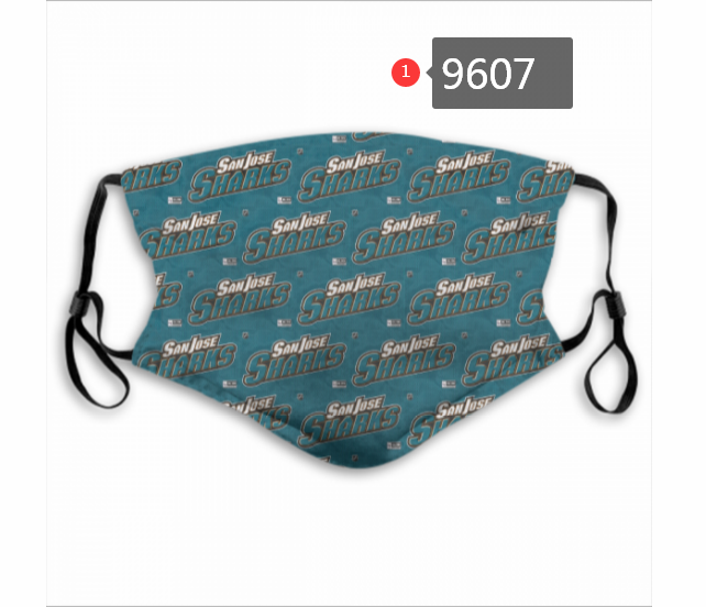 New 2020 NHL San Jose Sharks 2 Dust mask with filter