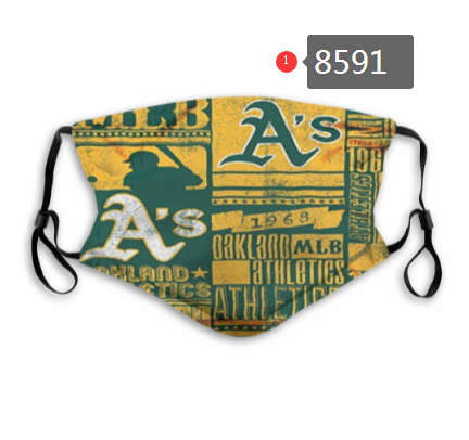 New 2020 Oakland Athletics Dust mask with filter