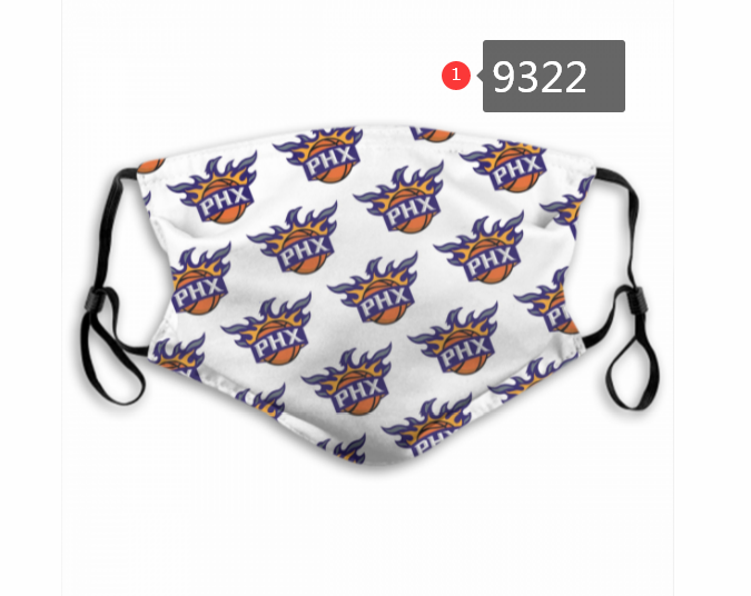 New 2020 Phoenix Suns 2 Dust mask with filter