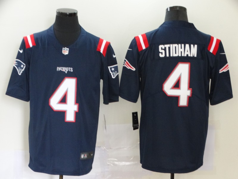 New England Patriots Limited blue Men 4 Jarrett Stidham Road NFL Jersey Vapor Untouchable