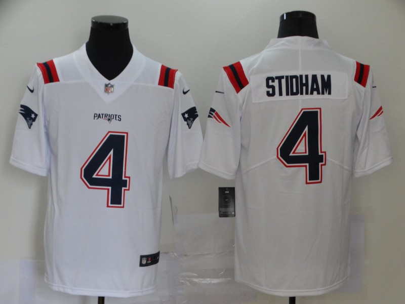 New England Patriots Limited white Men 4 Jarrett Stidham Road NFL Jersey Vapor Untouchable