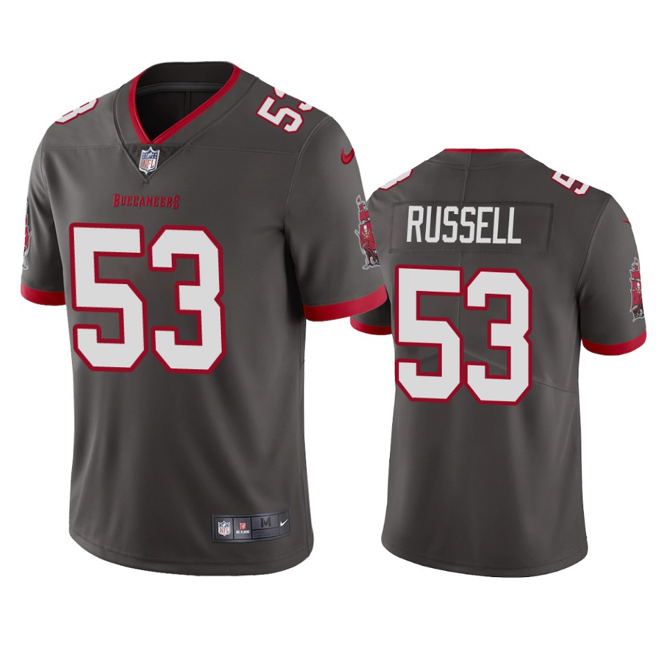 Tampa Bay Buccaneers Men Nike NFL 53 Chapelle Russell Pewter Vapor Untouchable Limited Jersey