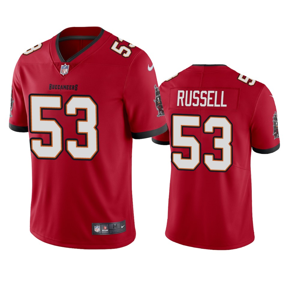 Tampa Bay Buccaneers Men Nike NFL 53 Chapelle Russell Red Vapor Untouchable Limited Jersey
