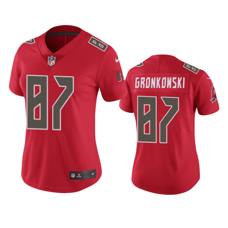 Tampa Bay Buccaneers WOMEN Nike NFL Color Rush Limited 17 Rob Gronkowski Red Jersey
