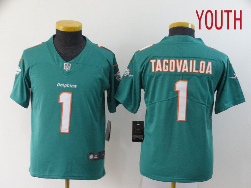 Youth Miami Dolphins 1 Tagovailoa Green Nike Vapor Untouchable Stitched Limited NFL Jerseys