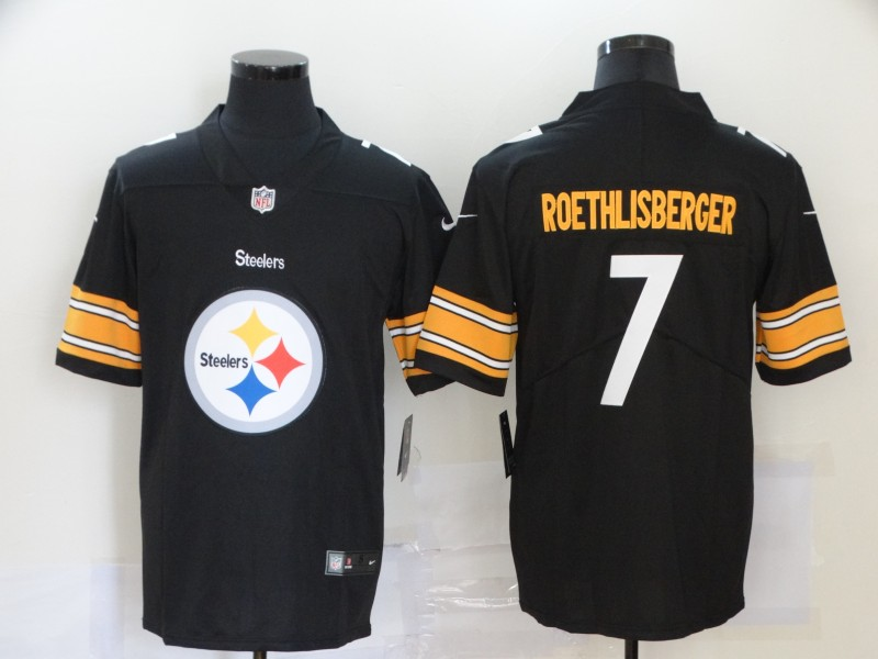 2019 Men Pittsburgh Steelers 7 Roethlisberger black Nike Vapor Untouchable Limited NFL fashion Jersey 5