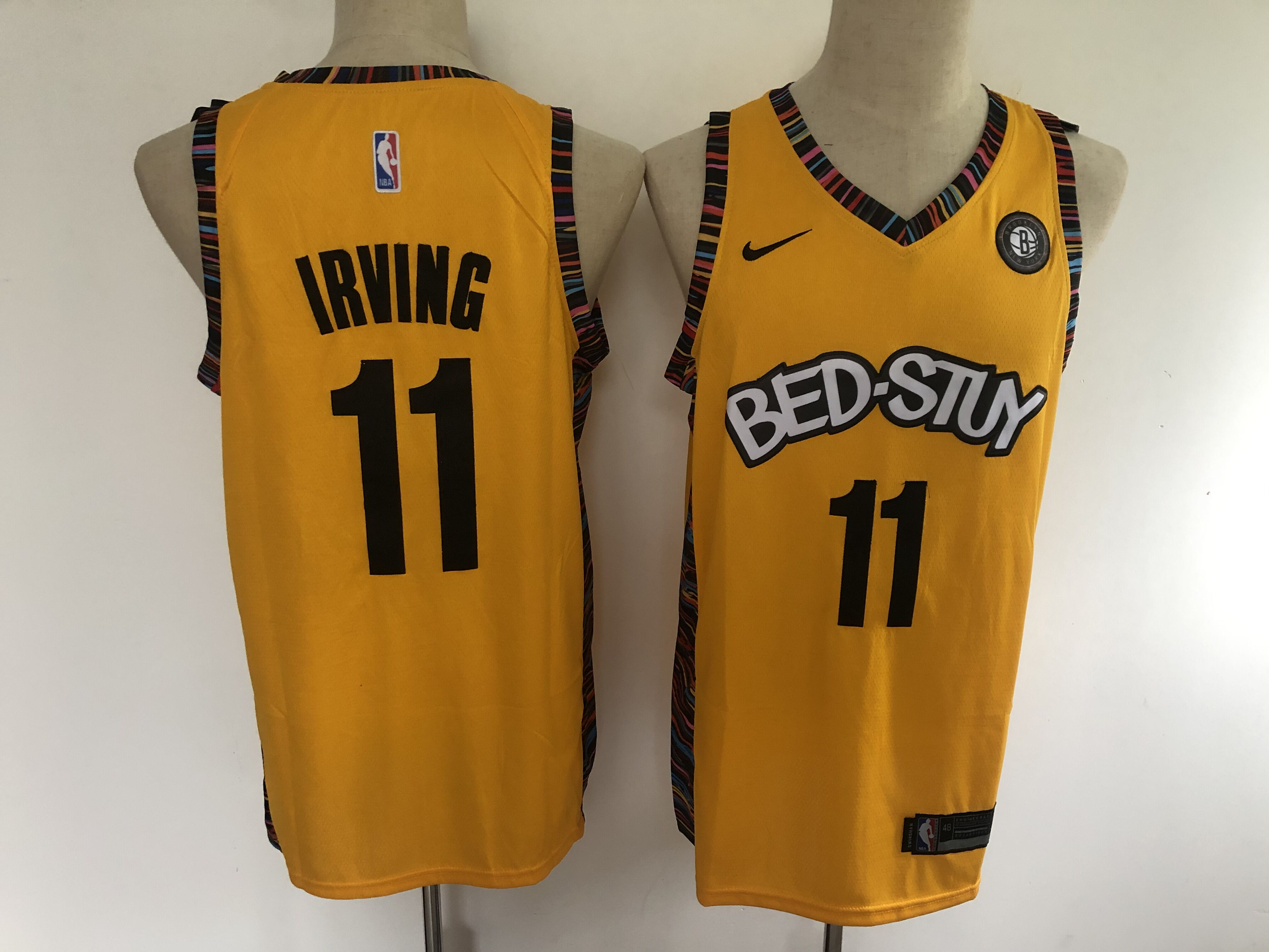 2020 Men Brooklyn Nets 11 Irving yellow Nike Game NBA Jerseys