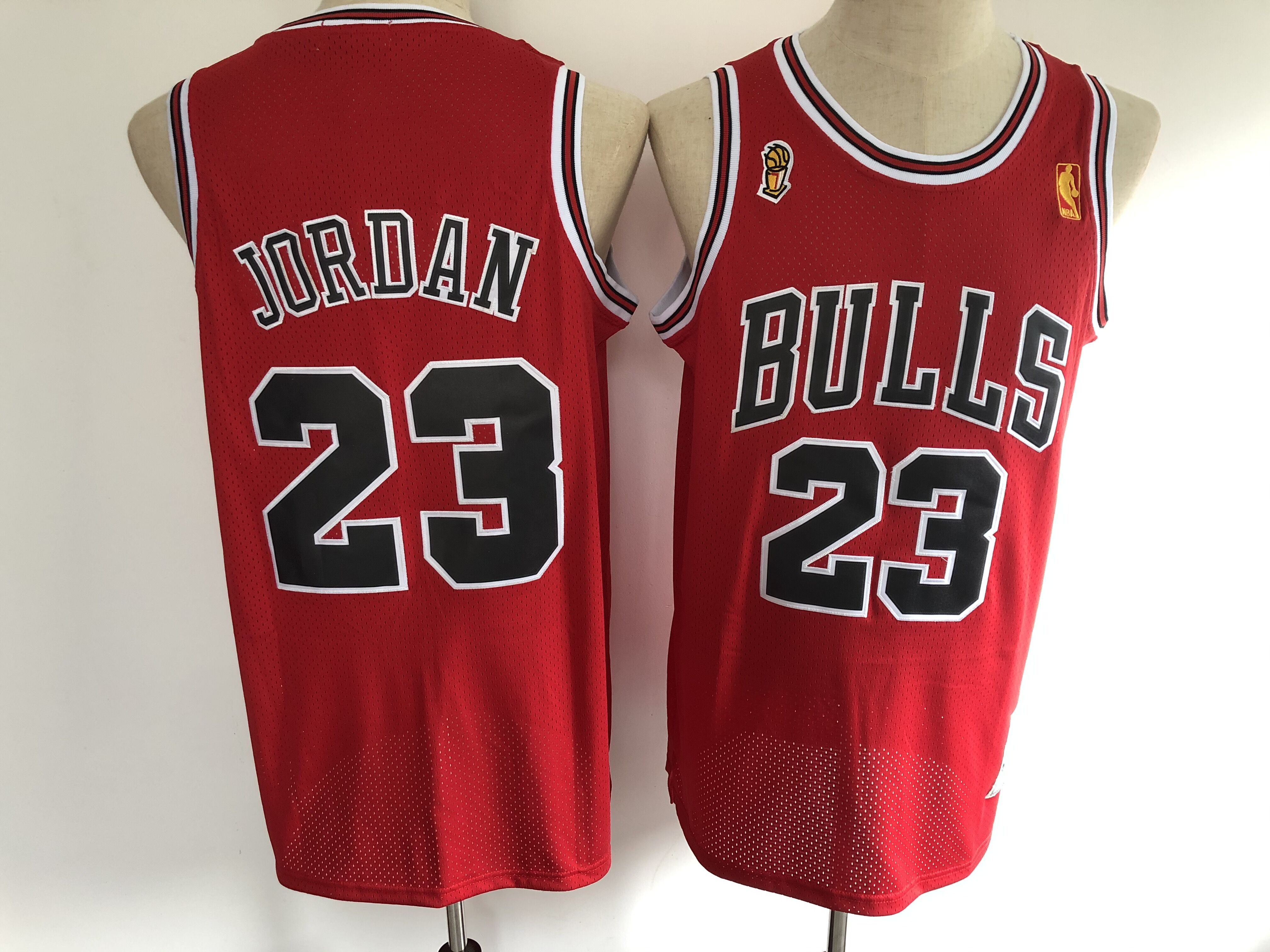 2020 Men Chicago Bulls 23 Jordan chamption red Stitched NBA Jersey