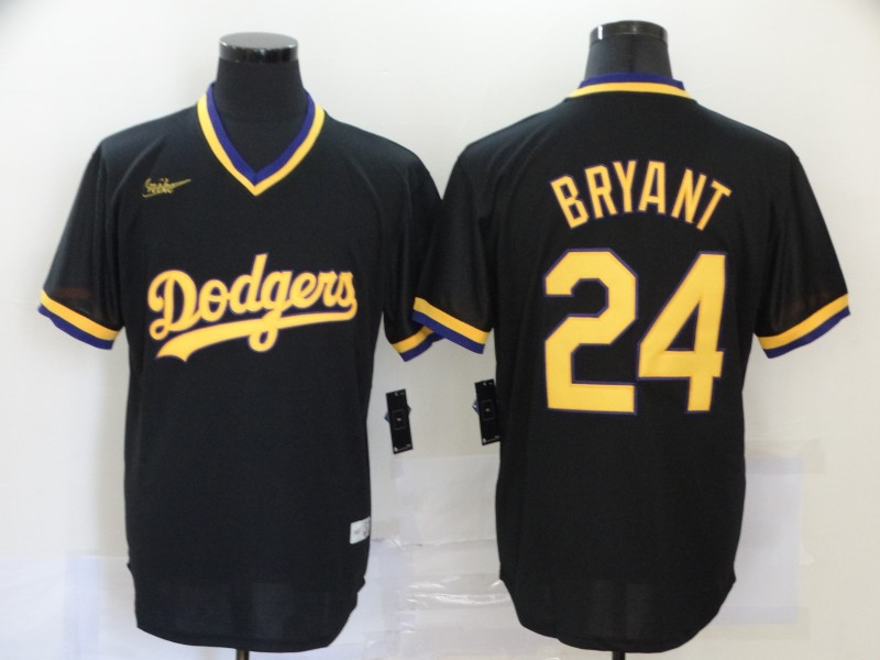 2020 Men Los Angeles Dodgers 24 Bryant black Nike Game MLB Jerseys 3