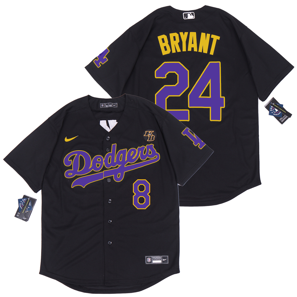 2020 Men Los Angeles Dodgers 24 Bryant black new Nike Game MLB new Jerseys