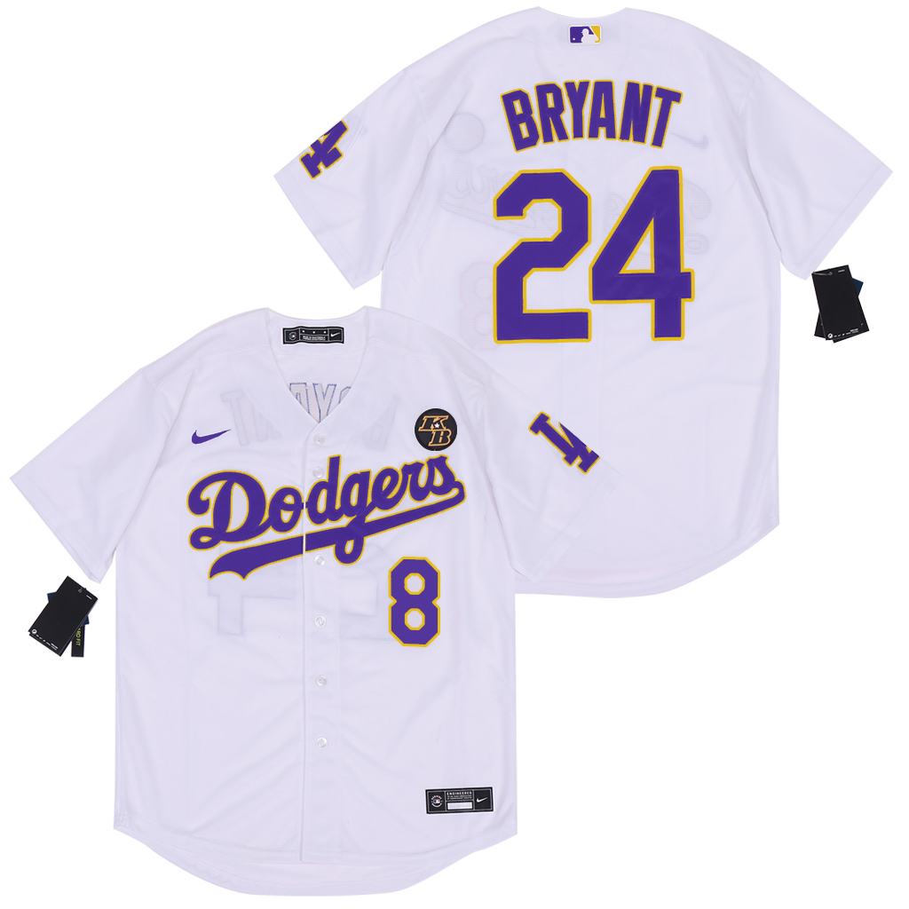 2020 Men Los Angeles Dodgers 24 Bryant white new Nike Game MLB Jerseys 3