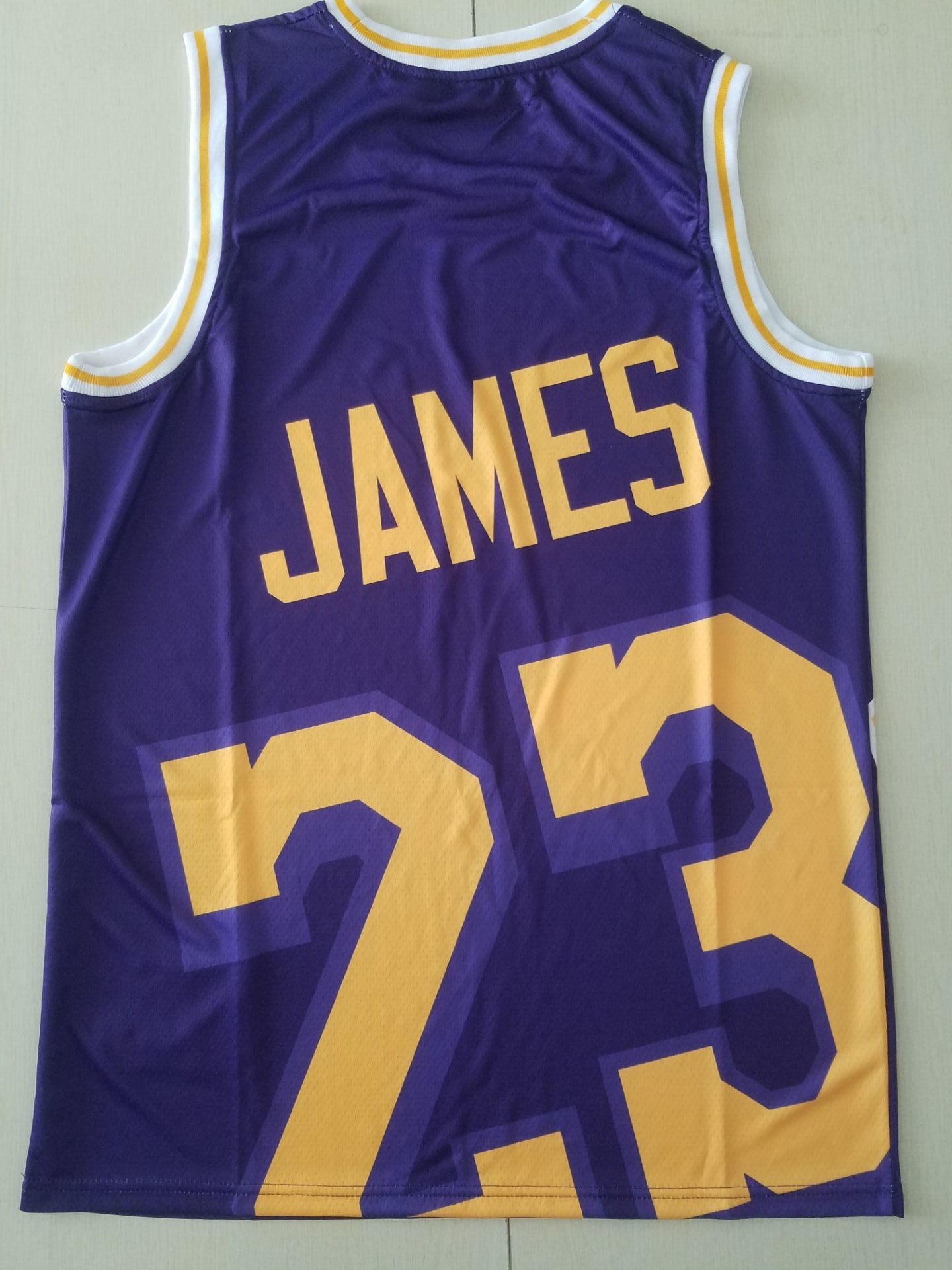 2020 Men Los Angeles Lakers 23 James Purple Nike Game NBA Jerseys 2