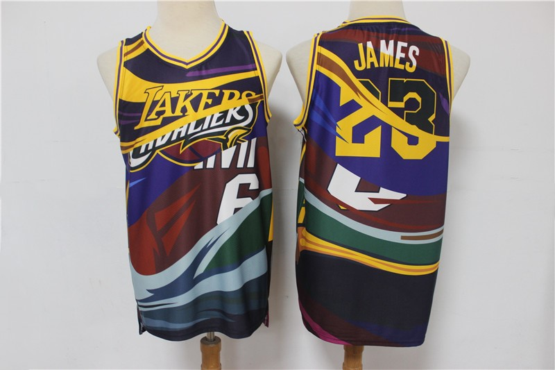 2020 Men Los Angeles Lakers 23 James yellow game Nike new NBA jersey