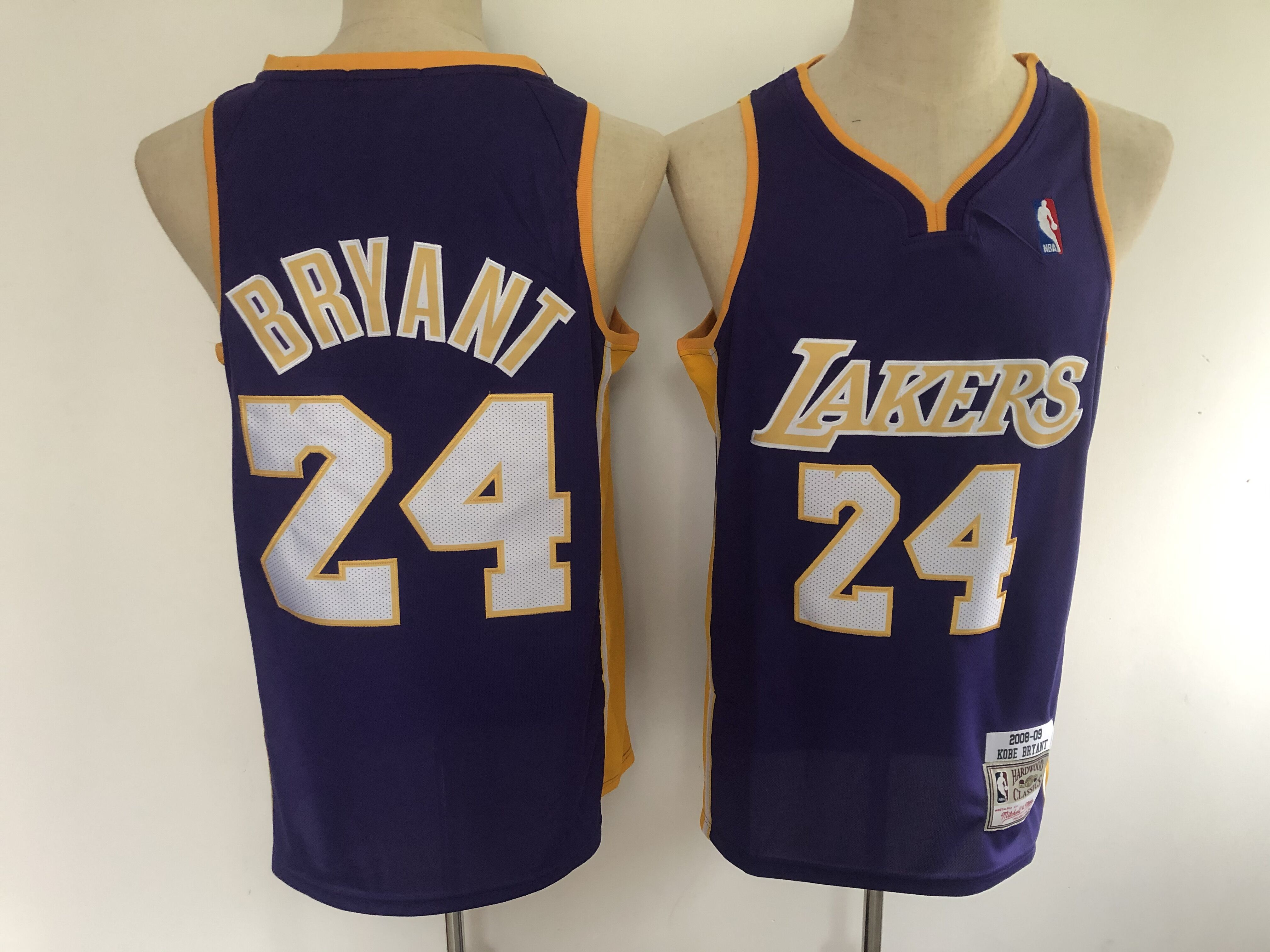 2020 Men Los Angeles Lakers 24 Bryant Purple Game Nike NBA Jerseys style 3