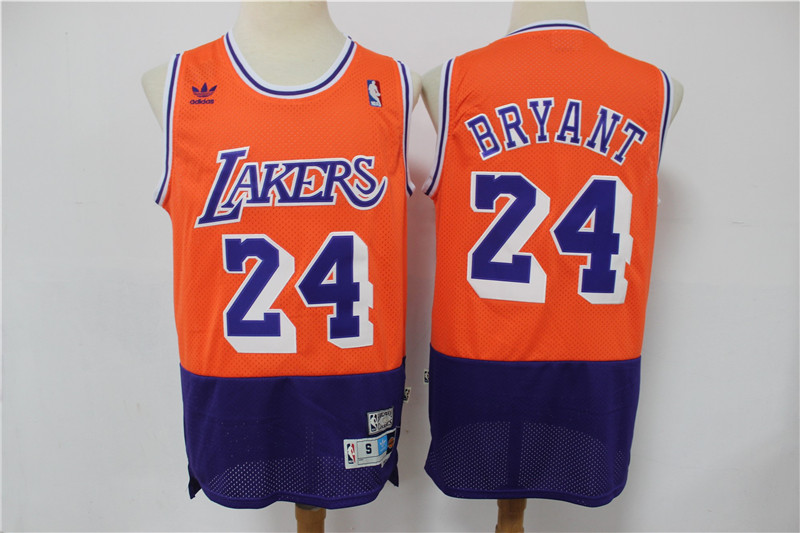 2020 Men Los Angeles Lakers 24 Bryant orange new style Game Nike NBA Jerseys